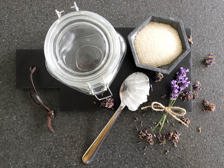 Ingredienser til hjemmelavet scrub
