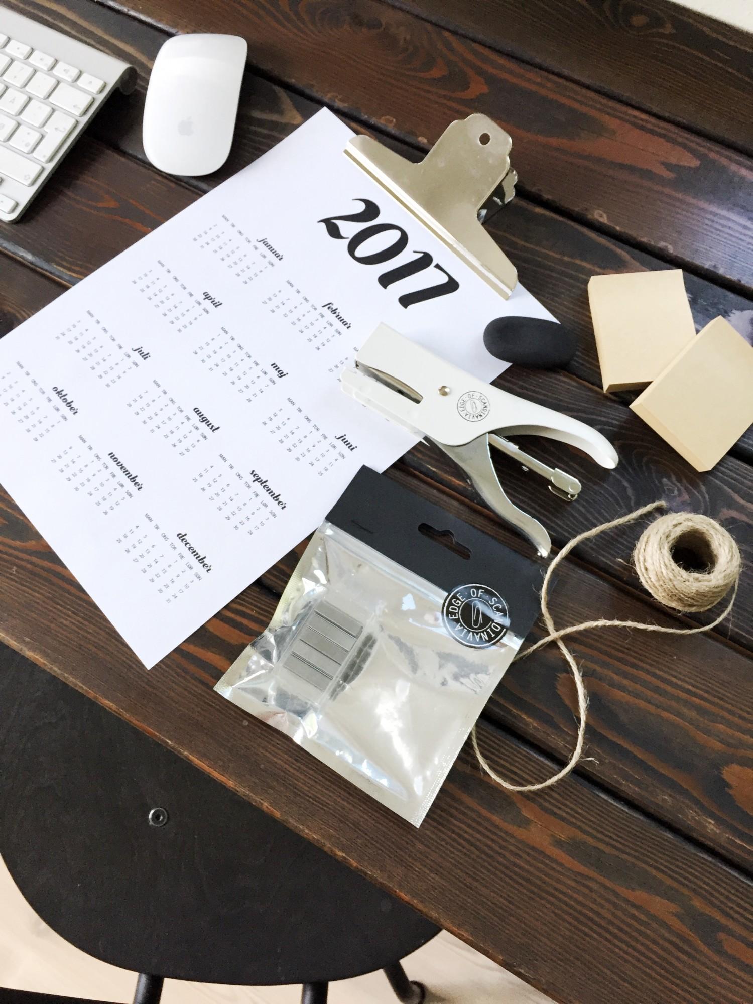 DIY kalenderophæng