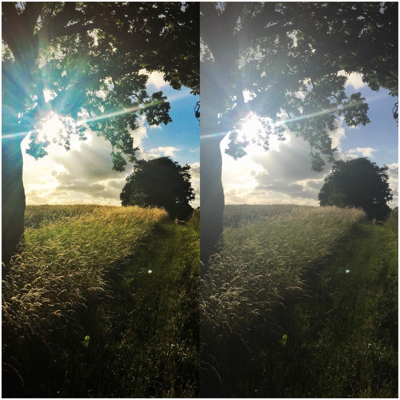 Redigering på telefonen - før og efter.