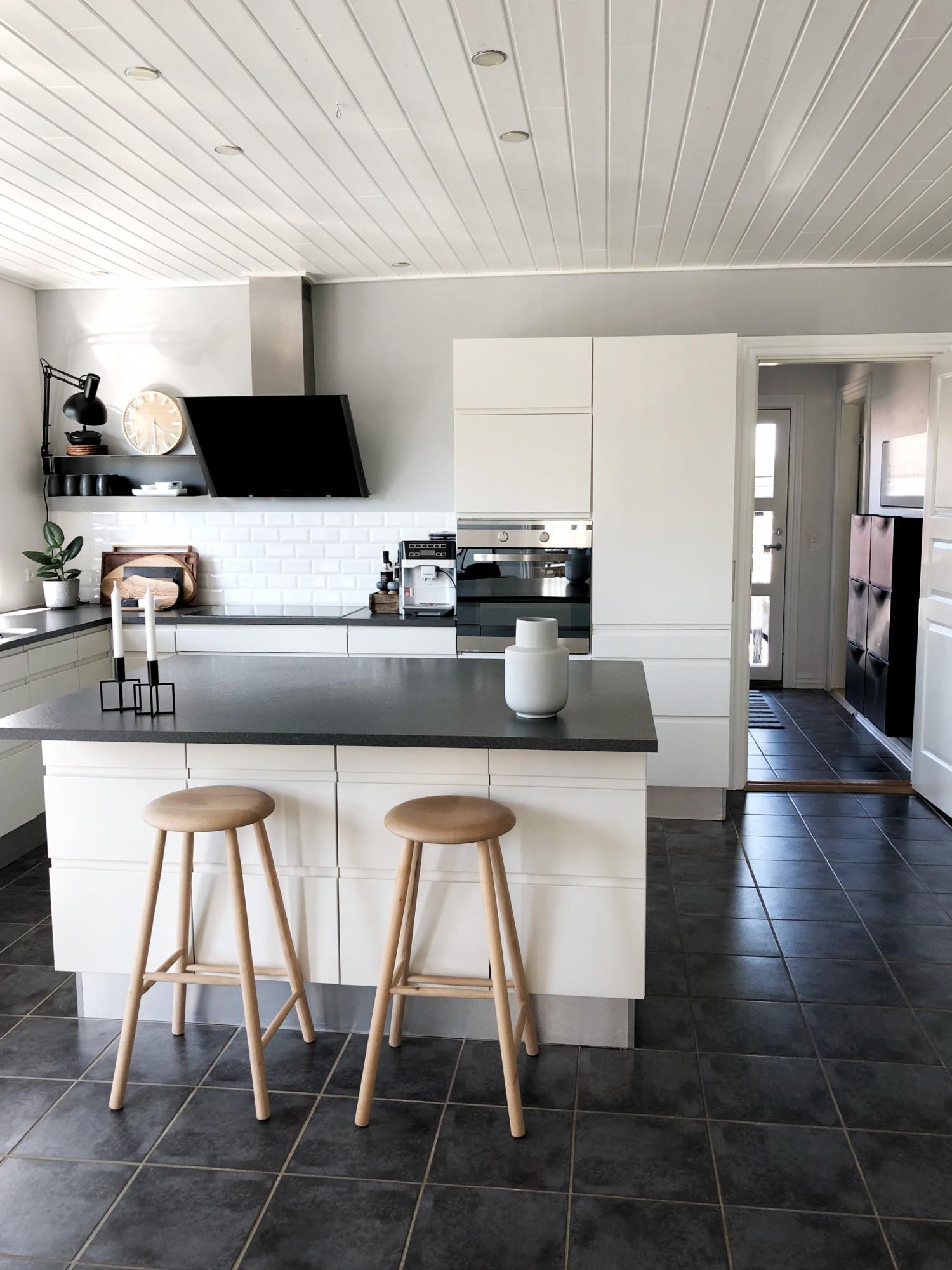 Ny farve i køkkenet
