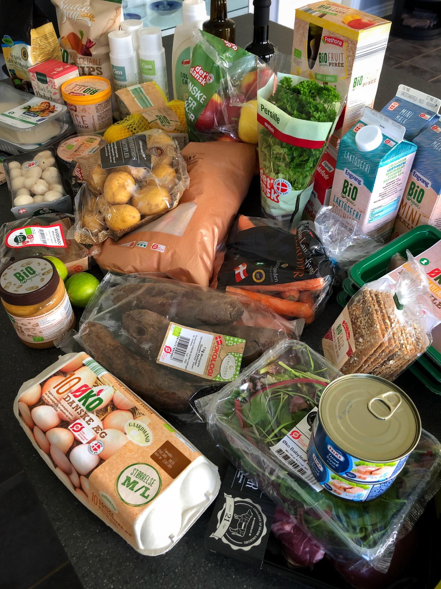 Indkøb til madplan