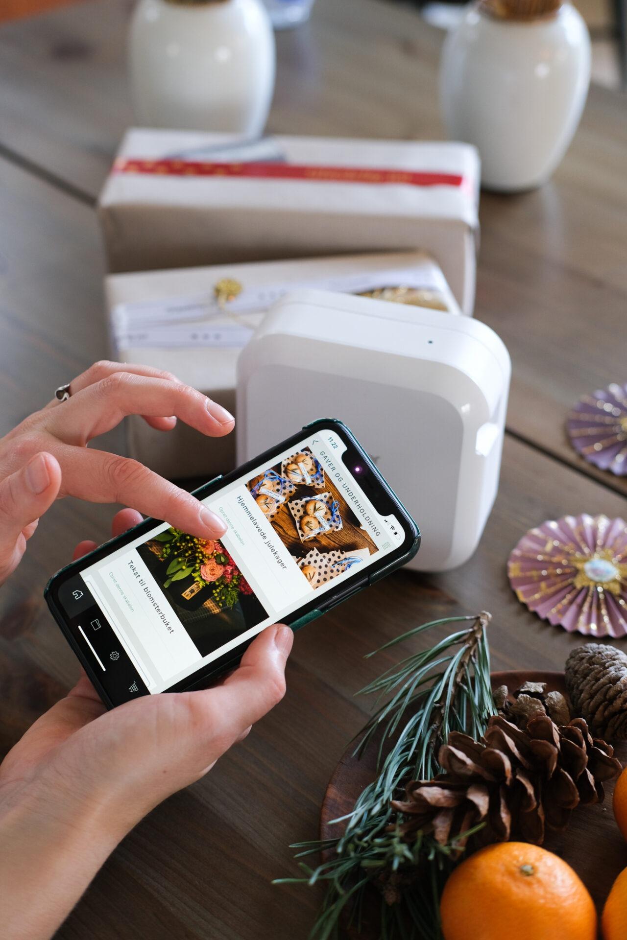 Sådan fungere app'en til P-touch CUBE Plus labelprinteren