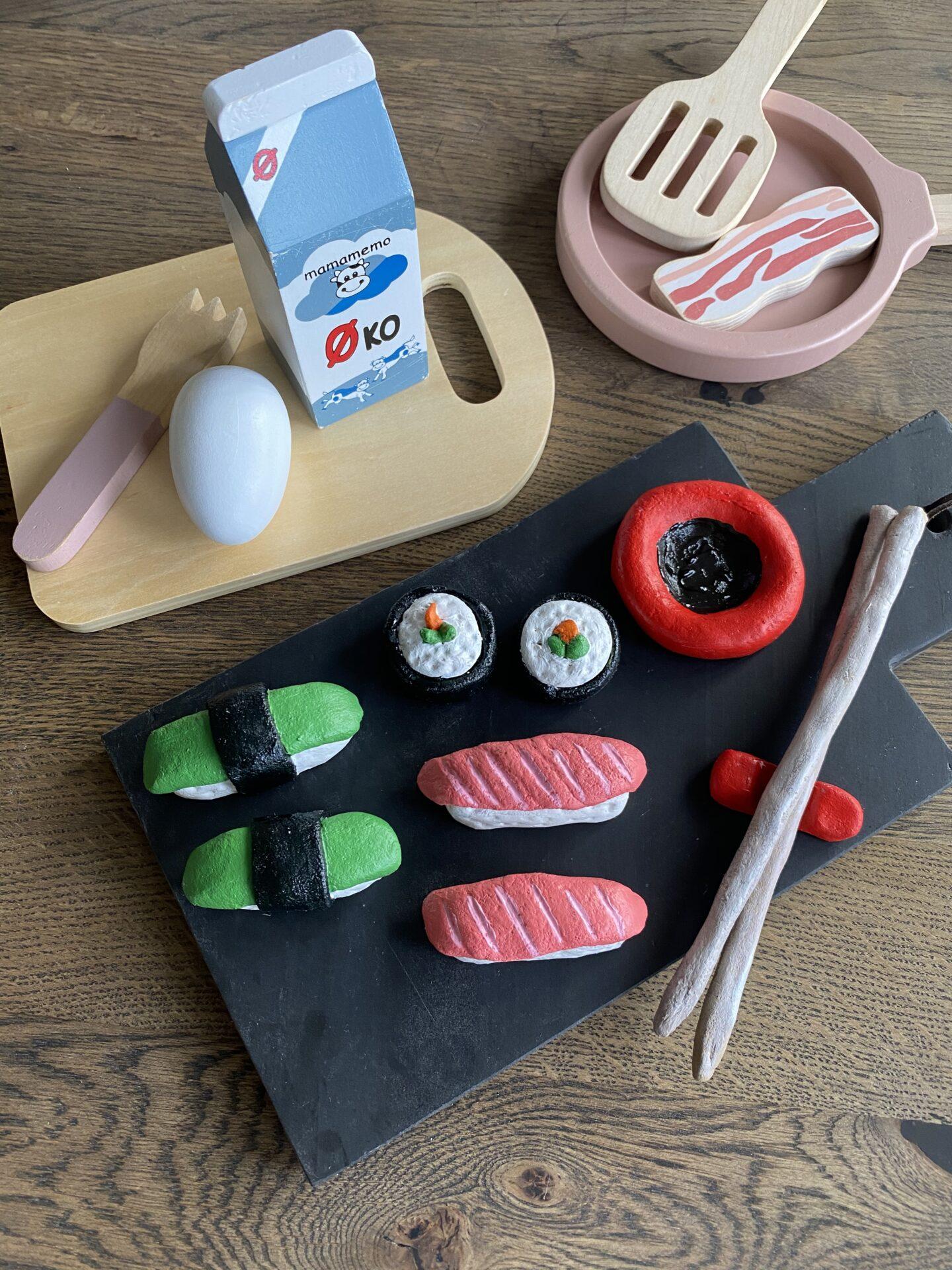Sushi legemad af trylledej til legekøkken
