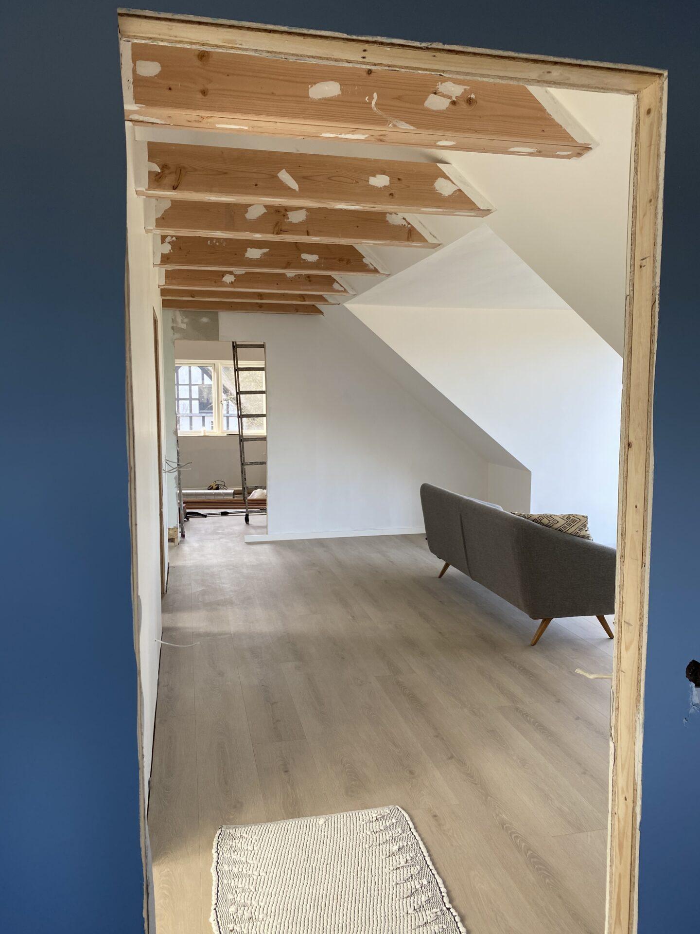 Byggenyt stuen ovenpå