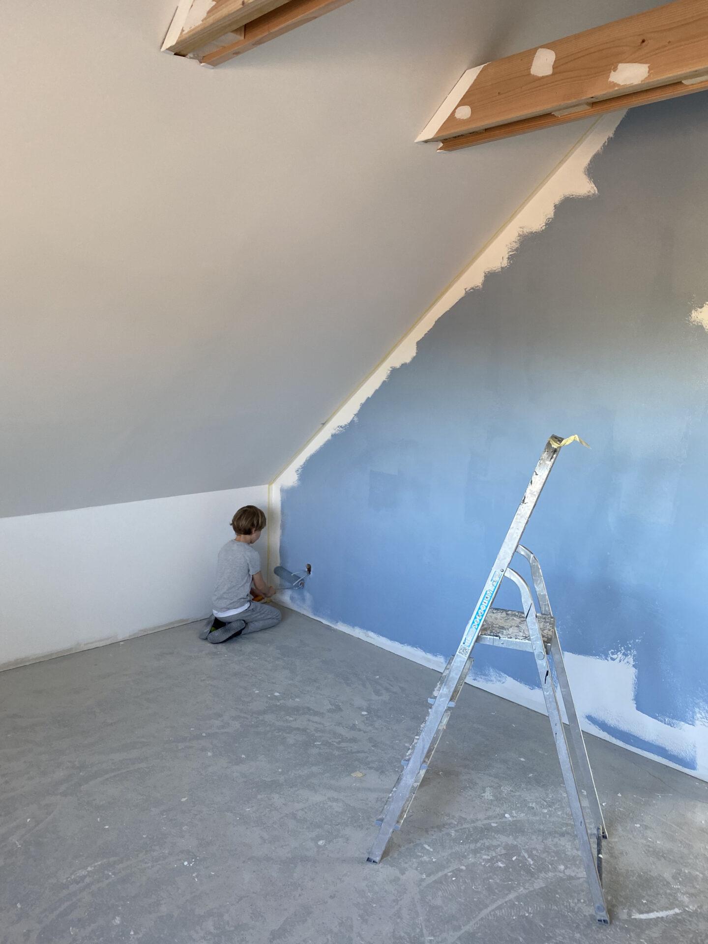 Malte maler sit værelse
